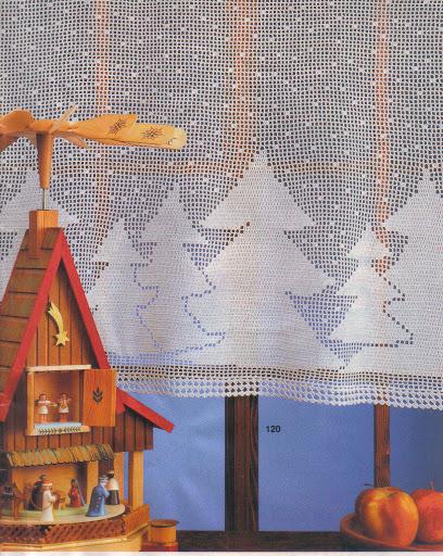 cortinas tejidas navideñas 29