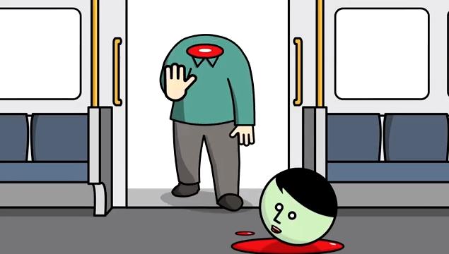 英鉄道、駆け込み乗客の首が吹っ飛び感電するブラックなアニメを公開