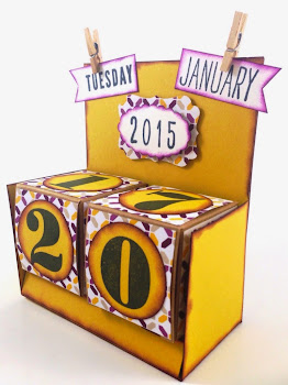 Linda Vich Creates: Fusion Card Challenge. Perpetual Calendar created at my Stamping Group.