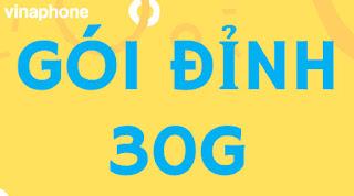 Miễn phí gói Đỉnh 30G Vinaphone, D30G Vinaphone) 1GB/ngày