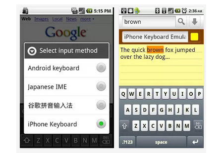 tastatura iphone pentru android Tastatura de iPhone (IOS), pentru Android
