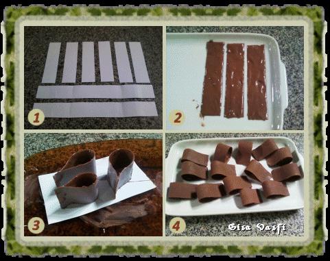 Laços de chocolate