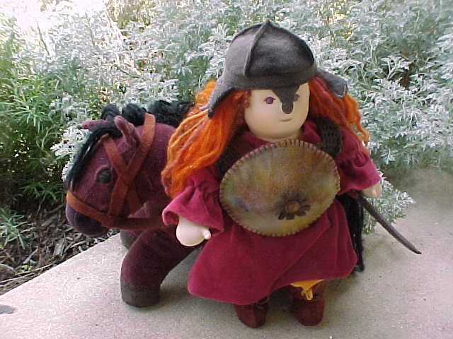"Custom order: Girl Knight 16"" Waldorf Doll"