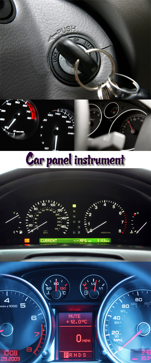 Stock Photo: Car panel instrument 2