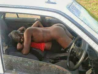 couple having sex in a car