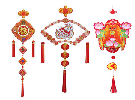 2012 Chinese New Year Papercrafts String Decorations