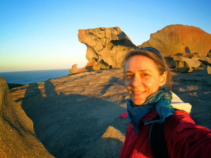 Michela Fantinel, Australia travel expert, on Kangaroo Island. From Expert Shares Best Australia Planning and Travel Tips