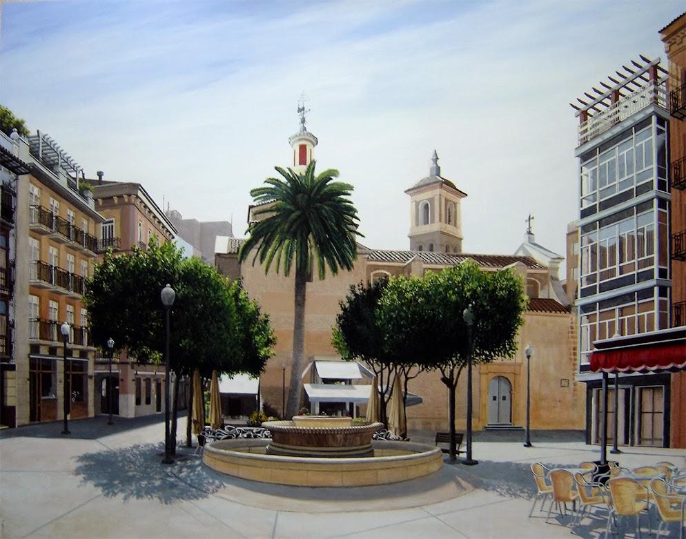 Plaza de las Flores pintura de Antonio Tapia