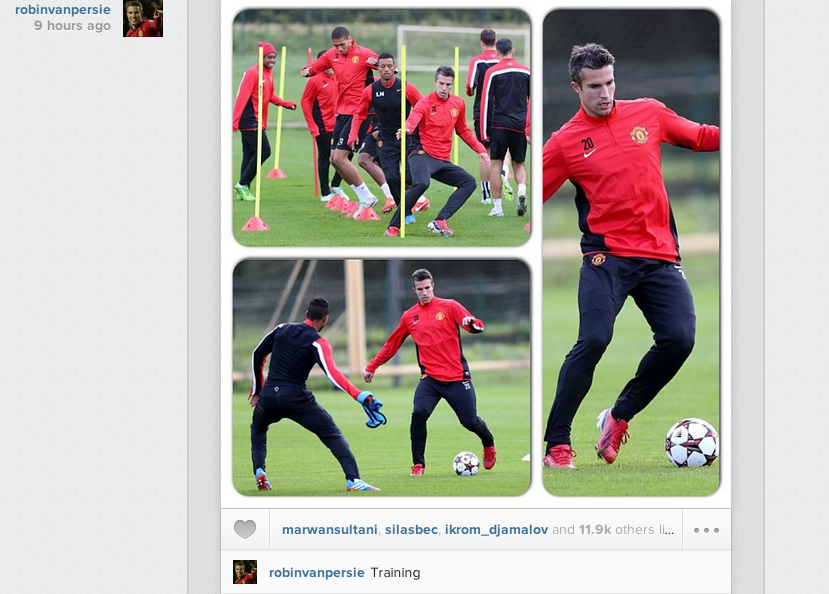 Robin van Persie posts Instagram montage of training pre Bayer Leverkusen
