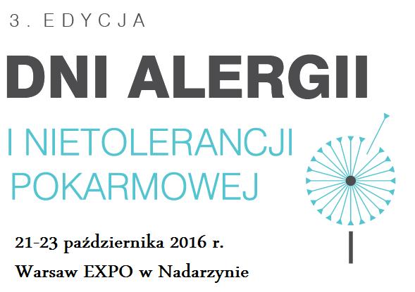 Dni Alergii i Nietolerancji Pokarmowej 2016 - największe wydarzenie w Polsce dla alergików.