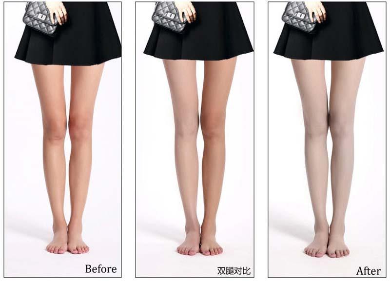 Hình ảnh thực tế sau khi sử dụng tất phun Nude Stocking