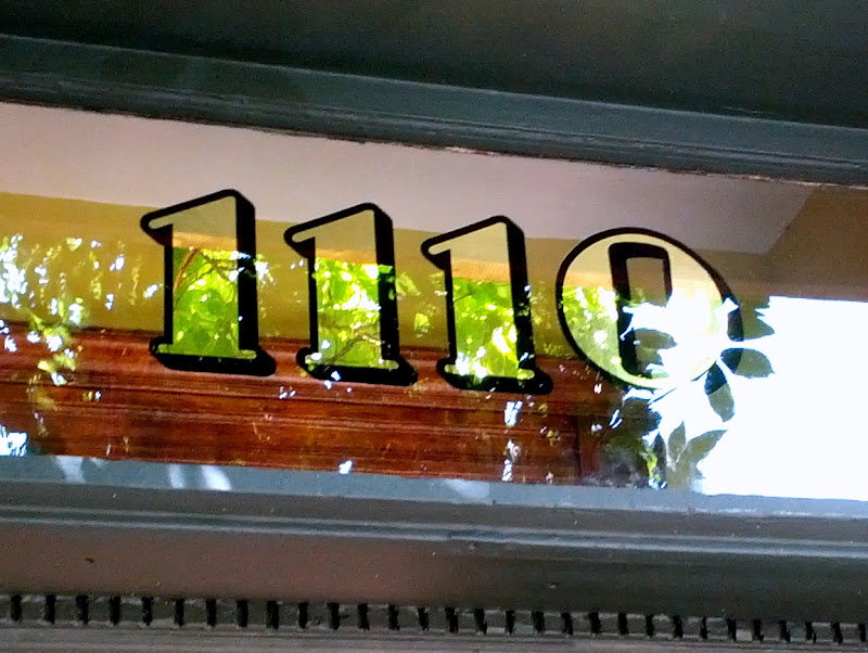 gold leaf transom numbers -  1110