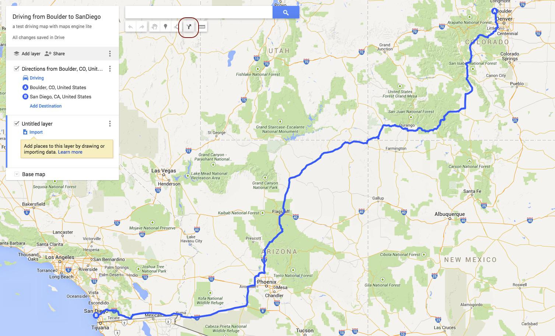 How to put a automatic route in my map? - Aide Google Maps Google Maps Albuquerque on mapquest albuquerque, area code map albuquerque, photography albuquerque, paradise hills albuquerque, zillow albuquerque, microsoft albuquerque,