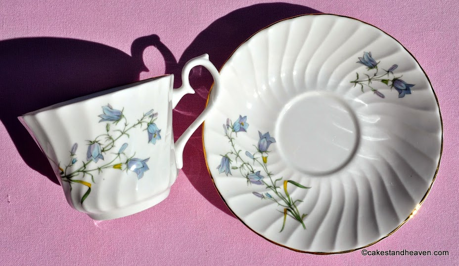 Vintage English China Harebells Pattern