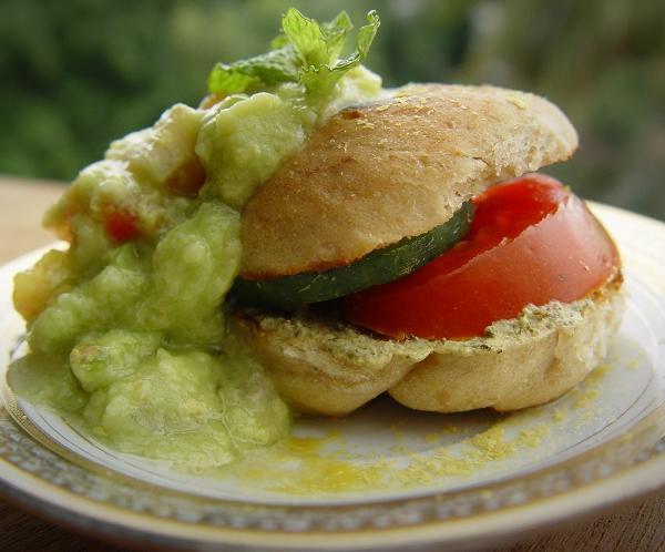 Burger Guacamole