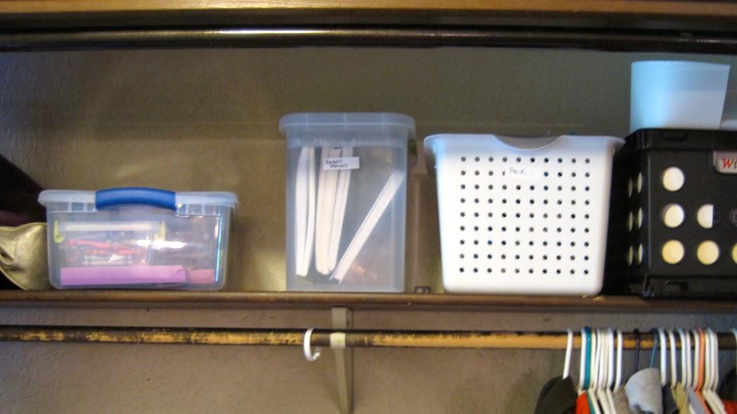 organizing homeschool stuff