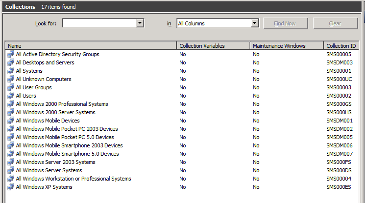 Henk's blog: Move default collections in ConfigMgr 2007
