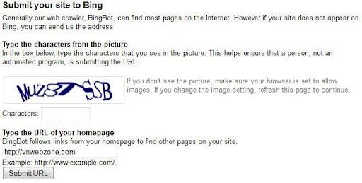 ssss Đưa website của bạn vào các công cụ tìm kiếm