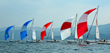 J/80s- one-design sailboat- sailing Lake Winnepesaukee, NH