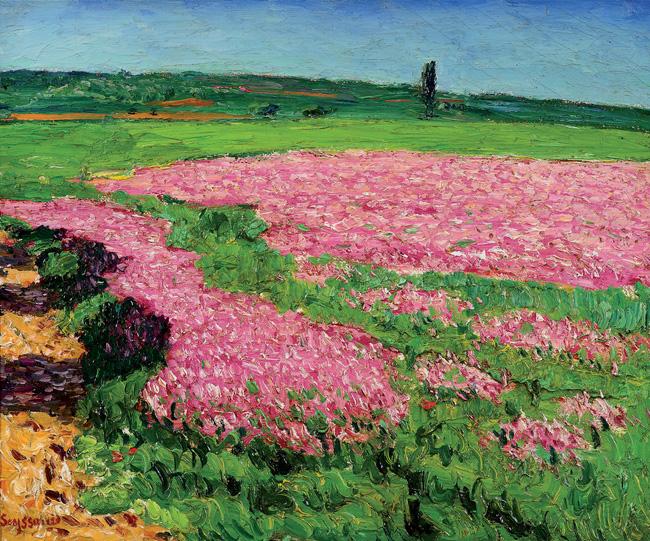 René Seyssaud - Sainfoins en fleurs-1905.