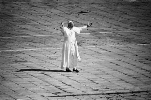 Despedida de Juan Pablo II en el aeropuerto. Polonia