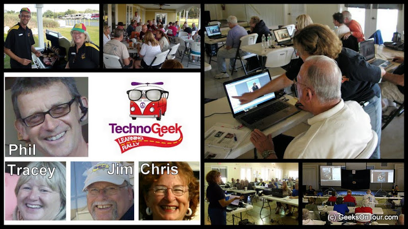 Scenes from a TechnoGeek Learning Rally