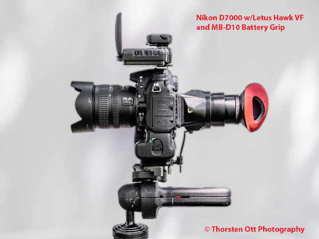 Nikon D7000 w/ Letus Hawk VF and MB-D10 Battery Grip & Pocket Wizard Flex TT5/AC3 Wireless Remotes