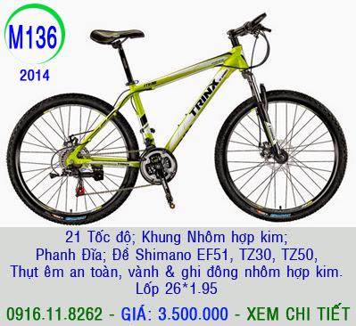 XE ĐẠP THỂ THAO, xe dap the thao, xe dap trinx, xe đạp thể thao chính hãng, xe dap asama,  M136 2014