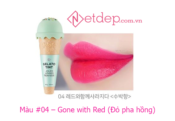 Son The Face Shop Gelato Tint Gone with Red