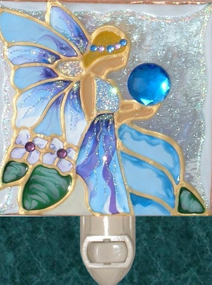 blue fairy night light