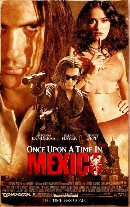 Poster Of Once Upon a Time in Mexico (2003) Full Movie Hindi Dubbed Free Download Watch Online At Alldownloads4u.Com