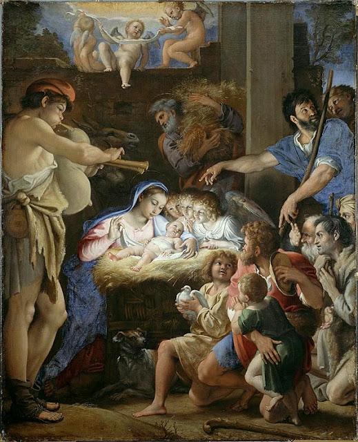 Domenichino - The Adoration of the Shepherds, c. 1607-10