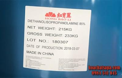dung moi tro nghien Diethanolisopropanolamine DEIPA 85%