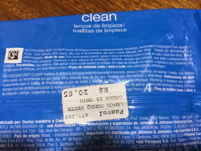 lenços de limpeza, deep clean, Neutrogena, demaquilante