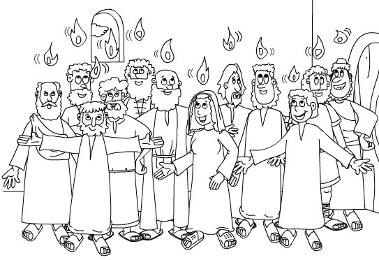 Receiving holy spirit coloring pages