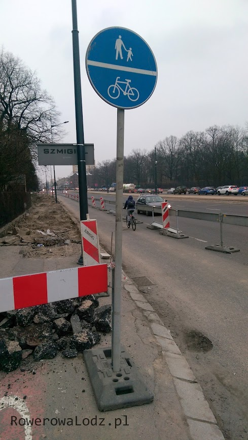 Tak już będzie w przyszłości - oddzielny chodnik i droga dla rowerów