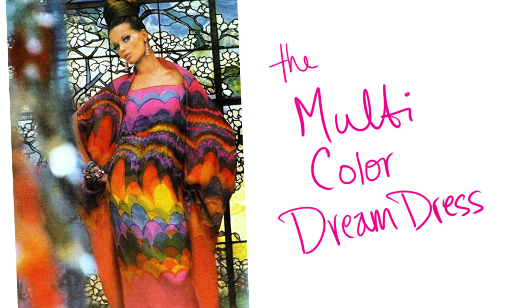 Veruschka & the Multi Color Dream Dress