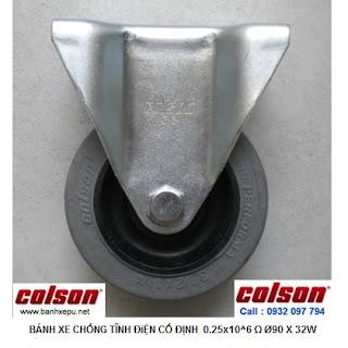 Bánh xe đẩy kháng tĩnh điện Colson càng cố định phi 90 | 2-3608-445C