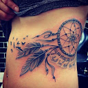 dreamcatcher tattoos on side 3