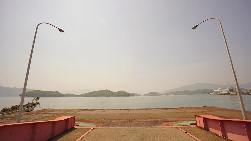 しまなみ海道 因島 港 写真