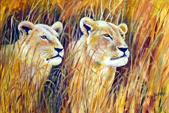 """On the Hunt"" by Ken Farris. 24x36. Acrylic. $450.00"