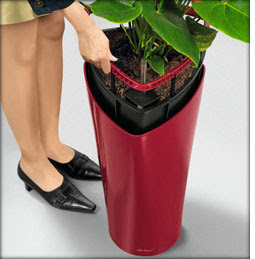 Delta self-watering plastic planters by Lechuza