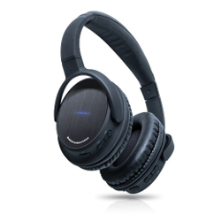 Photive BTH3 Bluetooth 4.0 Headphones with Built-in Mic and 12 Hour Battery. Includes Hard Travel Case. - image