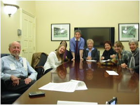 Photo of meeting with State Senator Jamie Raskin and Delegate Sheila Hixson
