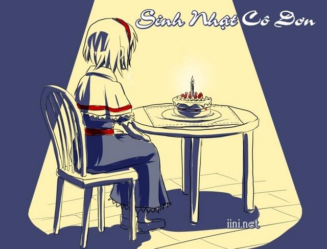ảnh sinh nhật buồn, cô đơn