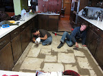 we put in a tile floor at my place