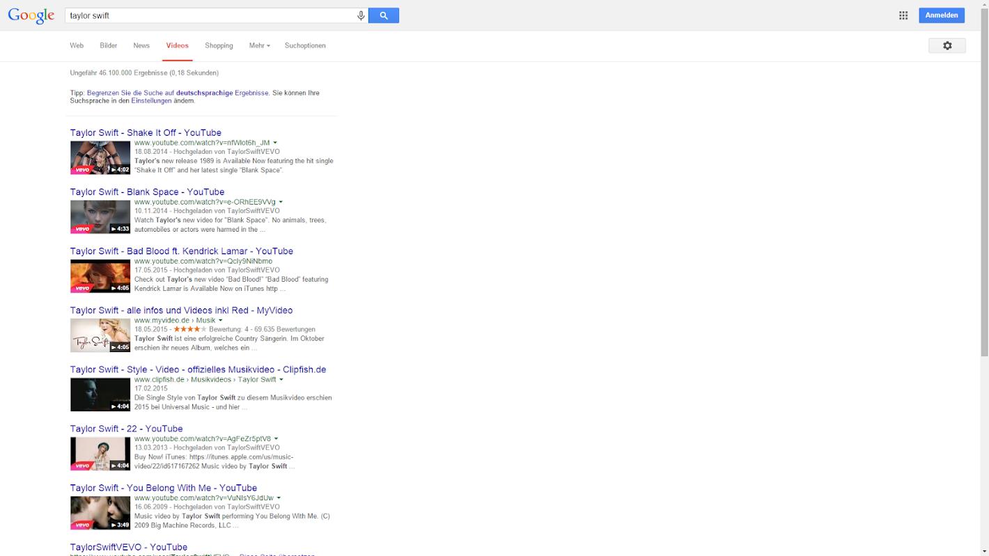 Google Videosuche