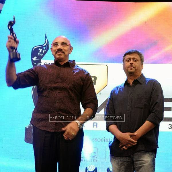 Satyaraj won Best Supporting Actor award in Tamil for the film 'Raja Rani' from Director Dharani during the 61st Filmfare Awards South, held at Jawaharlal Nehru Stadium in Chennai, on July 12, 2014.