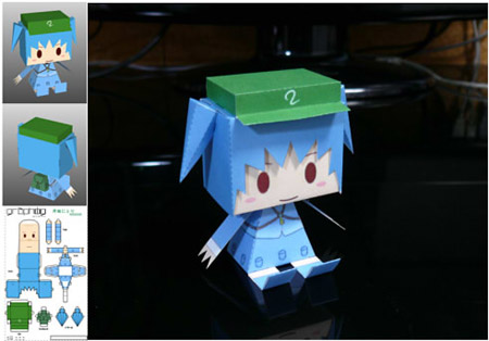 Graphig Nitori Paper Toy