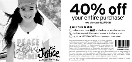 Justice For Girls Coupon Code